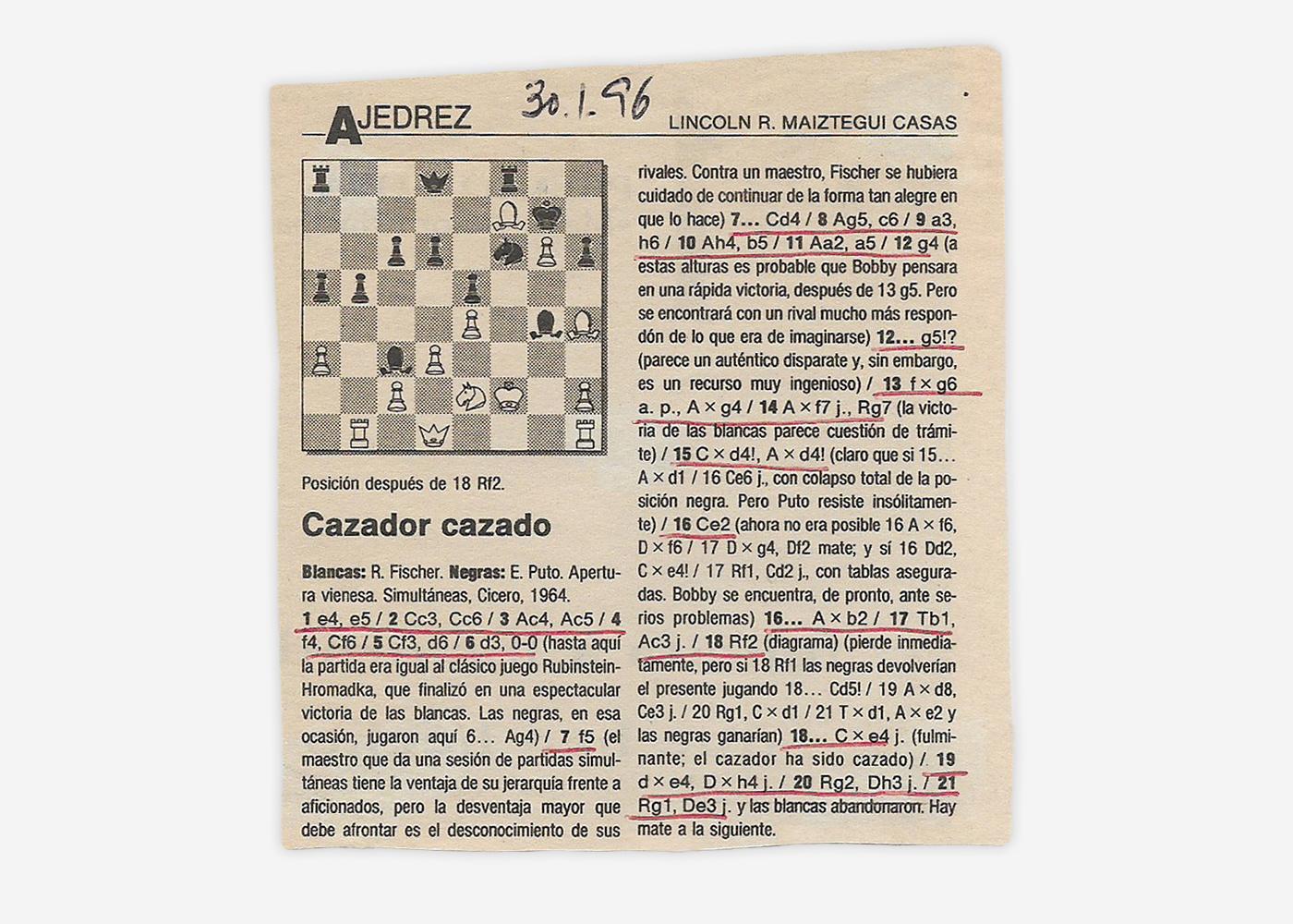Columna de El País del 30/01/1996